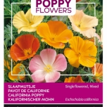 Poppies of the world - Eschscholtzia calif. Single Mixed