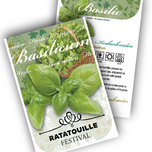 Basil Kitchen Herbs Personalized Printed Seed Packets - 100 pieces