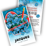 Forget-me-Not Personalized Printed Seed Packets