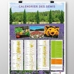 Seed Calendar Poster French