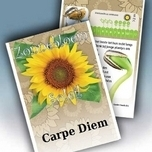 Sunflower Personalized Printed Seed Packets