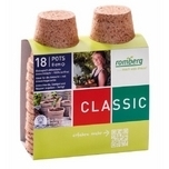 Biodegradable seedling 18 pots 8xcm Romberg